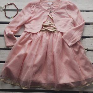 🌻3pc rose petal pink party dress 🌻